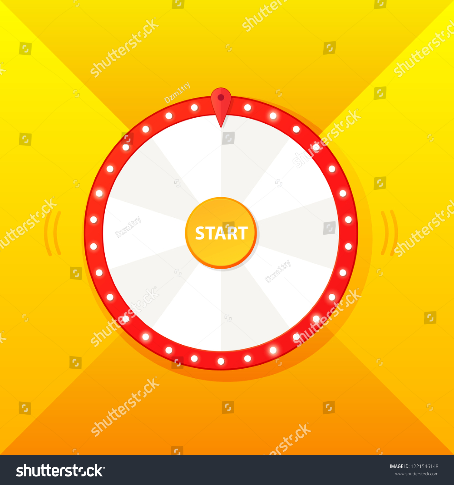 blank wheel fortune template design stock vector royalty free