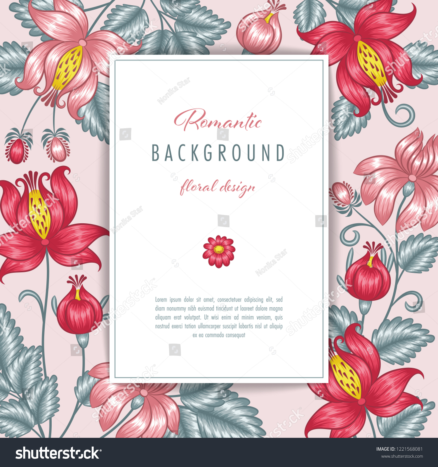 Floral Background Invitation Template