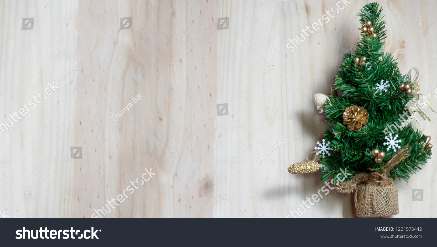 Christmas Background Small Christmas Tree Decorations Stock Photo Edit Now 1221573442