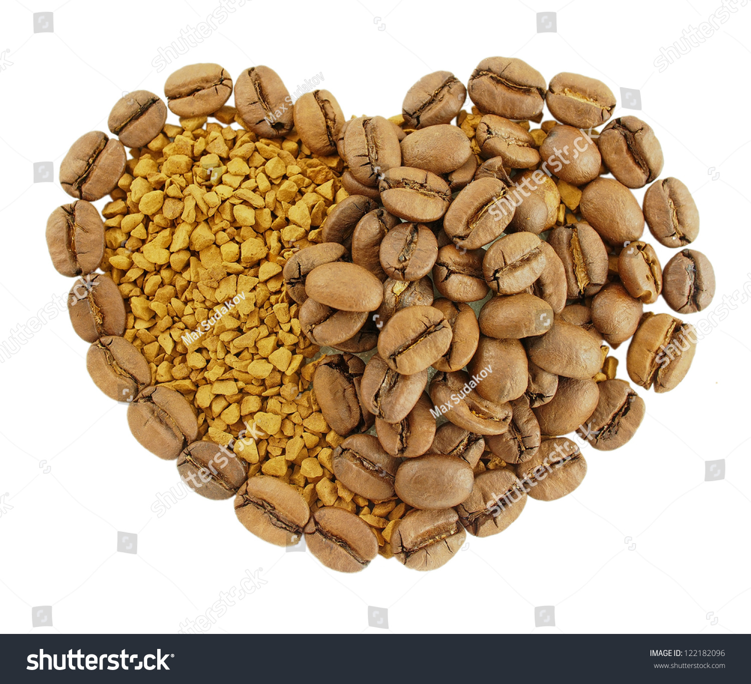 coffee heart granules instant coffee coffee stock photo 122182096 shutterstock. Black Bedroom Furniture Sets. Home Design Ideas