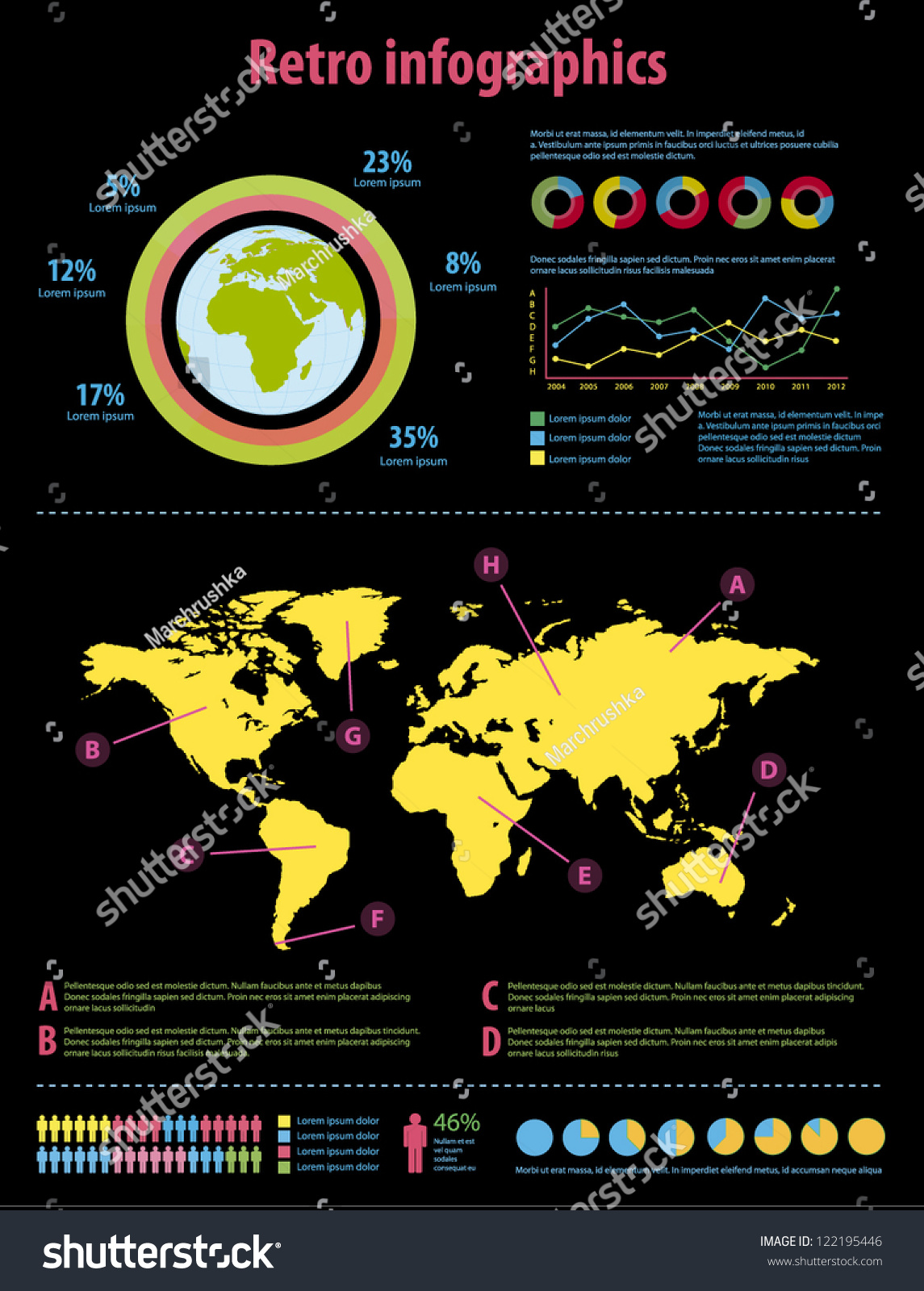 Infographic set world map information graphics stock vector infographic set world map and information graphics gumiabroncs Image collections
