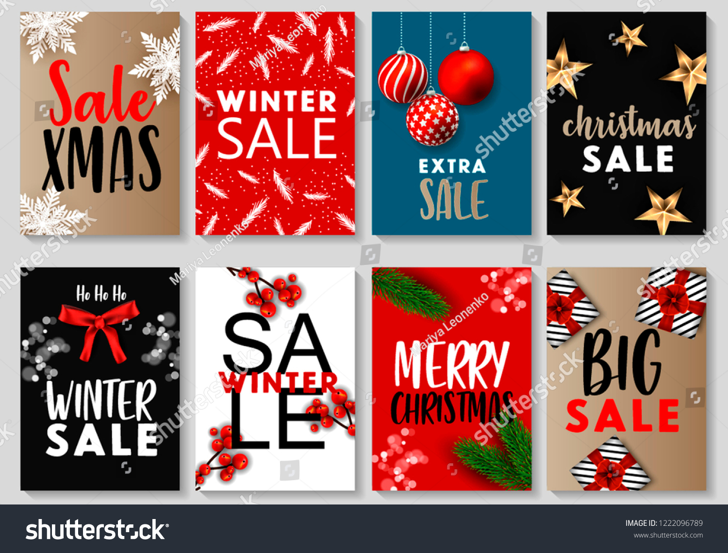 Merry Christmas New Year Mobile Sale Stock Vector (Royalty