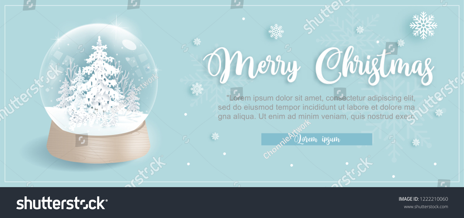 christmas card template snow globe christmas stock vector royalty