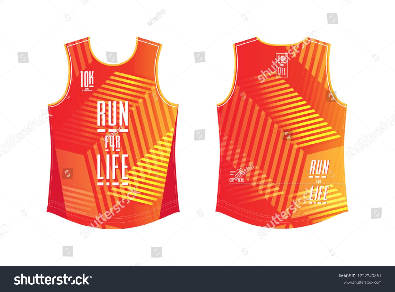 Running Shirt Template Sport Club Minimarathon Stock Vector Royalty