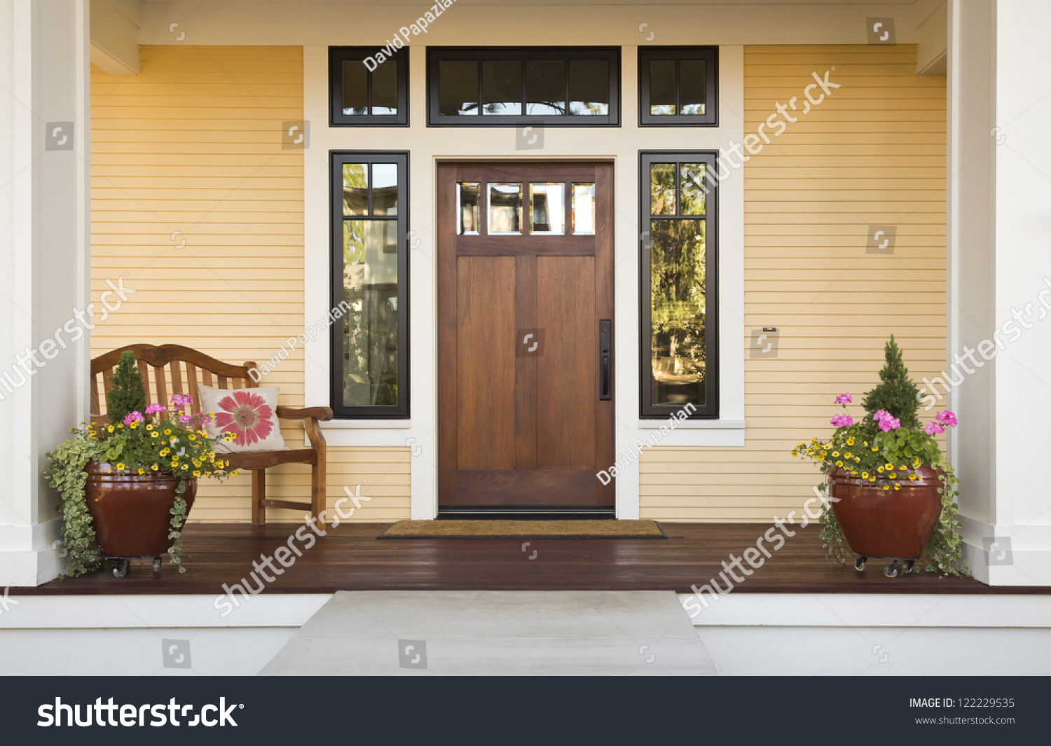 wooden front door of a home front view of a wooden front. Black Bedroom Furniture Sets. Home Design Ideas