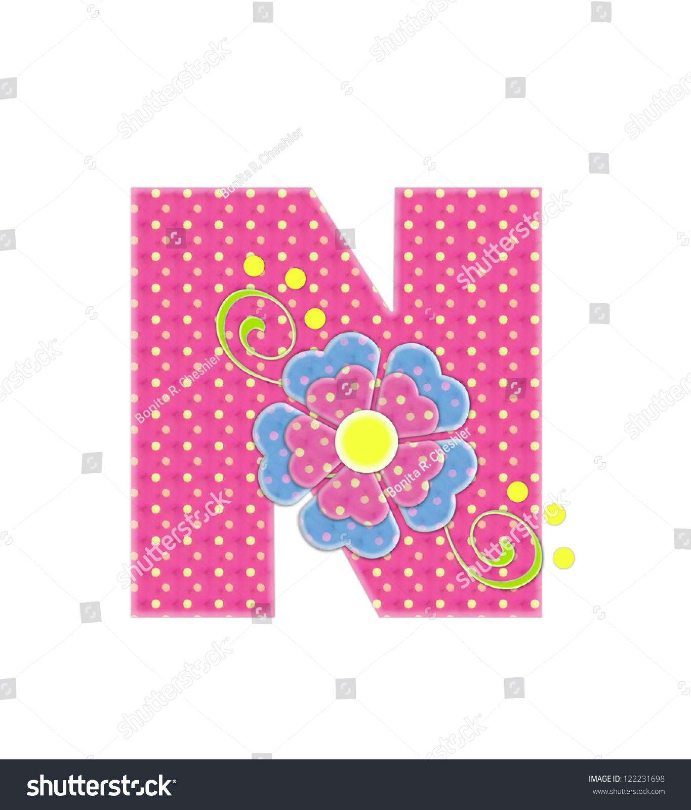Letter N Alphabet Set Bonita Pink Stock Illustration 122231698 ...