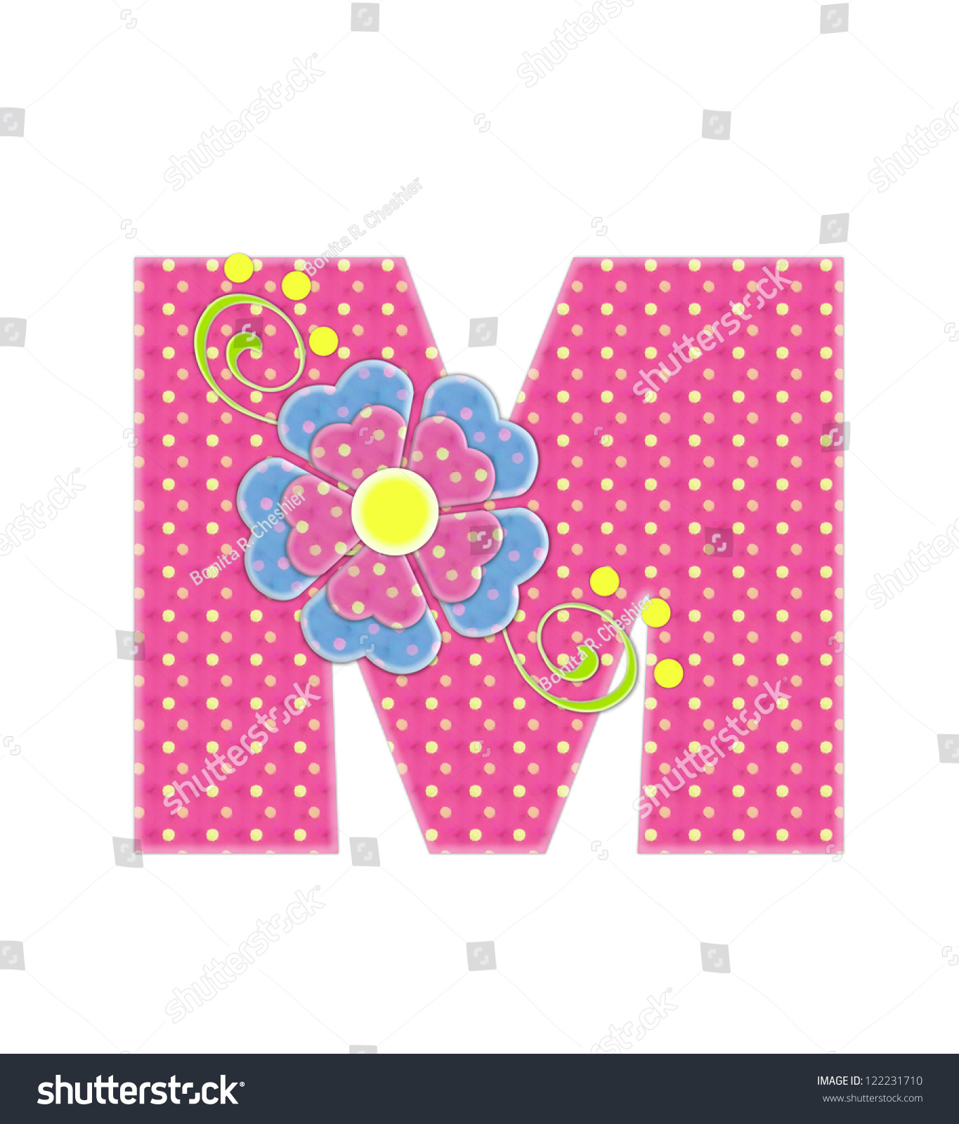 Royalty Free Stock Illustration of Letter M Alphabet Set Bonita Pink ...