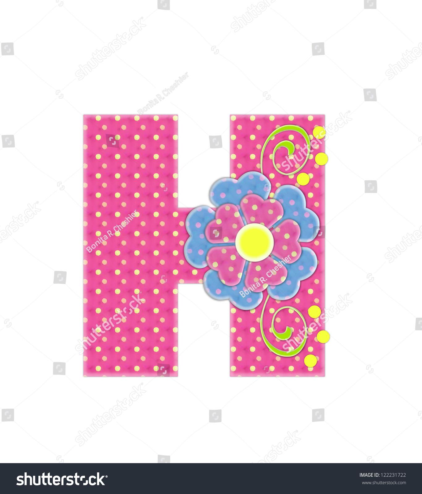 Royalty Free Stock Illustration of Letter H Alphabet Set Bonita Pink ...