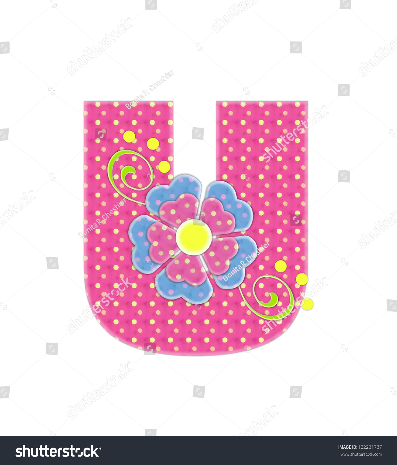 Letter U Alphabet Set Bonita Pink Stock Illustration 122231737 ...