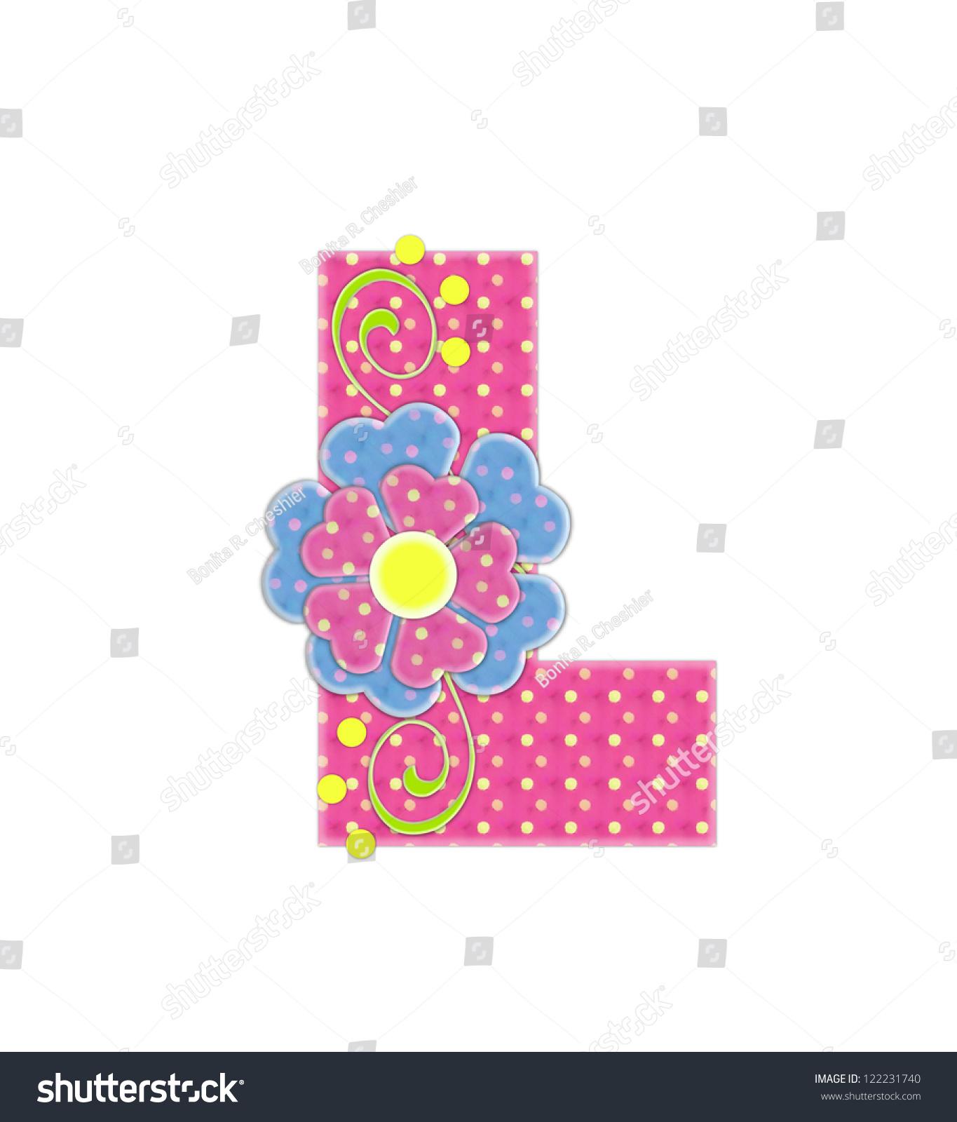 Royalty Free Stock Illustration of Letter L Alphabet Set Bonita Pink ...