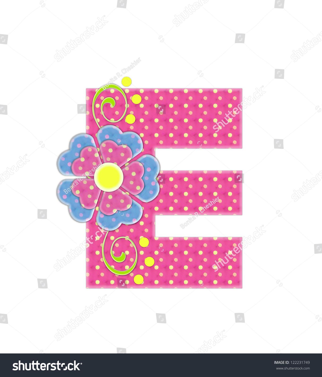 Letter E Alphabet Set Bonita Pink Stock Illustration - Royalty Free ...