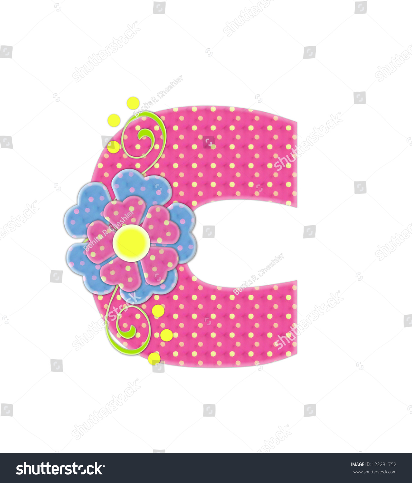 Letter C Alphabet Set Bonita Pink Stock Illustration 122231752 ...