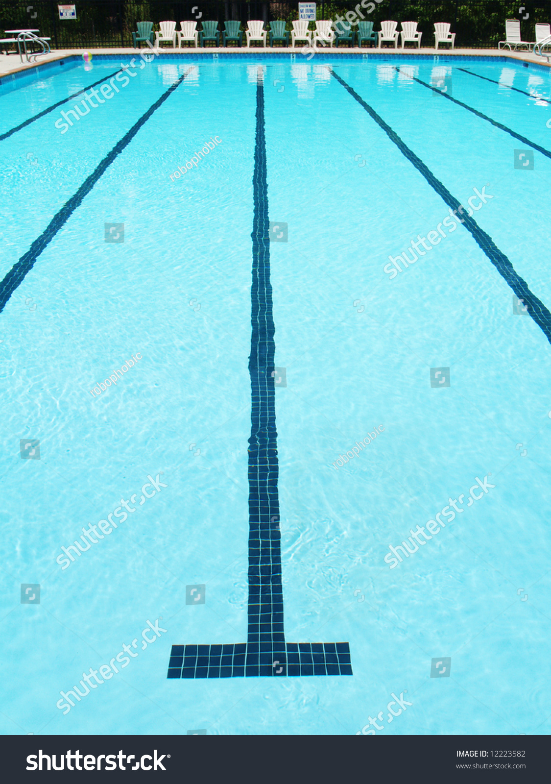 Olympic Swimming Pool Lanes olympic sized swimming pool lane stripe stock photo 12223582