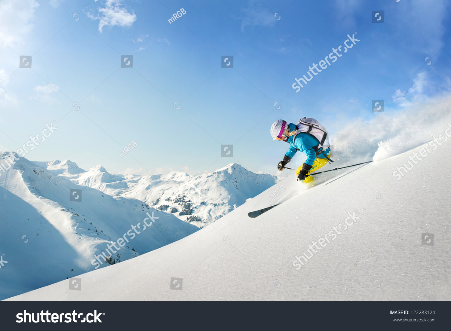 Female freeride skier #122283124