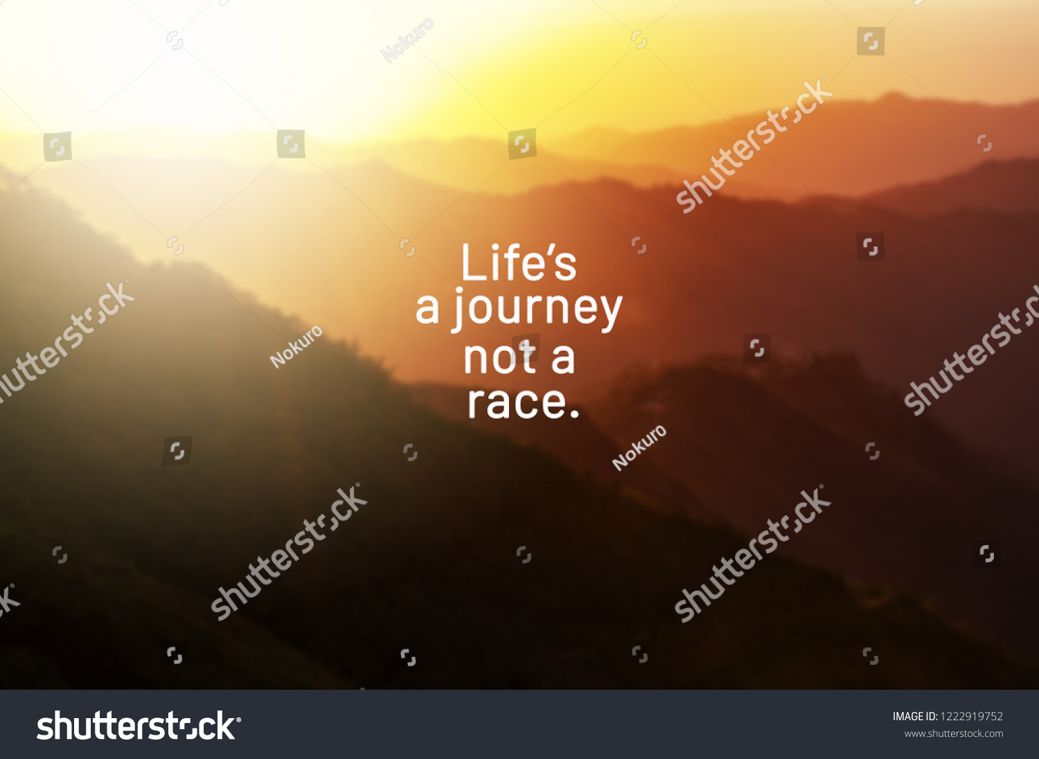 Inspirational Life Quotes Lifes Journey Not Stock Photo Edit Now