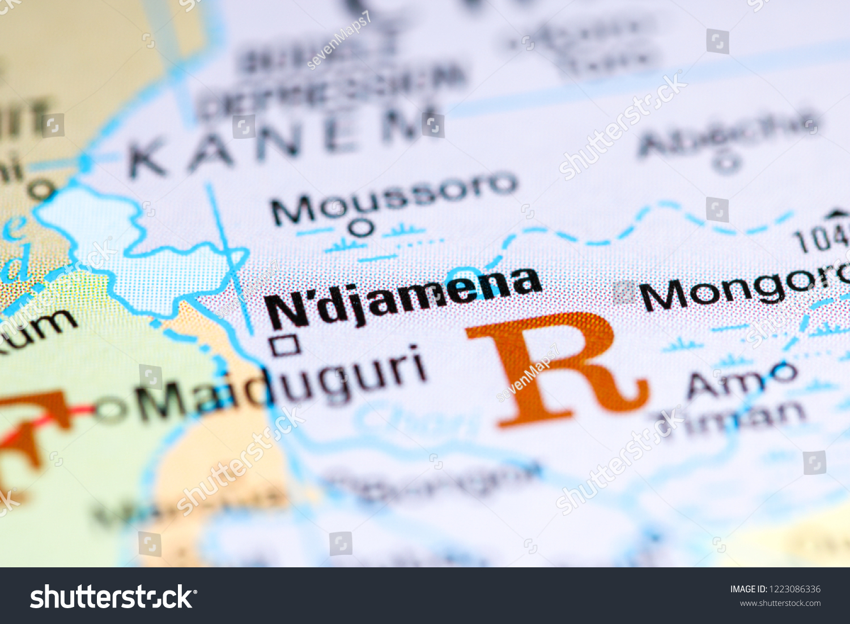 Ndjamena Africa On Map Stock Photo (Edit Now) 1223086336 ... on cairo on a map of africa, khartoum on a map of africa, dakar on a map of africa, abuja on a map of africa, djibouti on a map of africa, maputo on a map of africa, ouagadougou on a map of africa, chad on a map of africa, mogadishu on a map of africa, freetown on a map of africa, algiers on a map of africa,