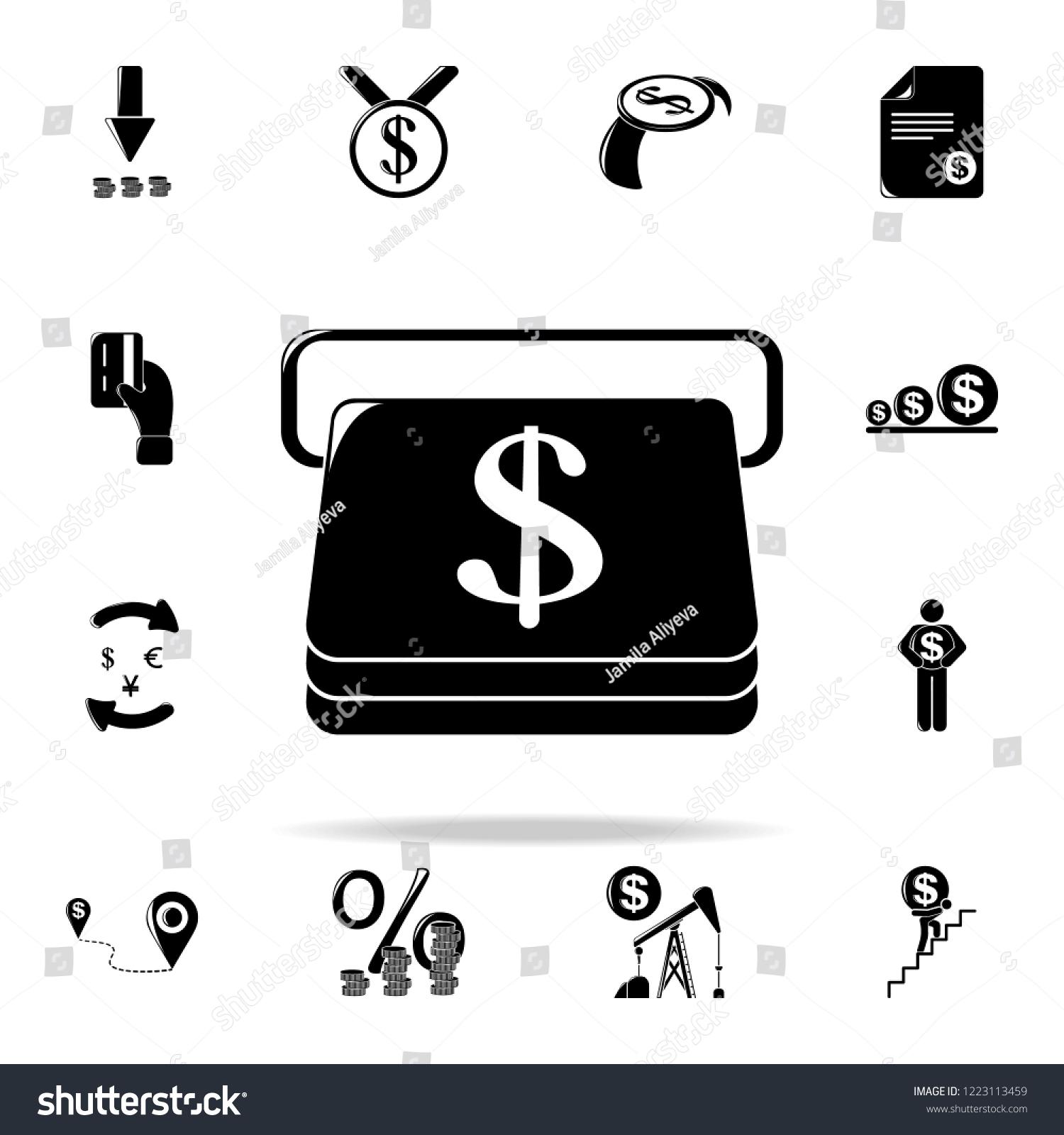 Credit Card Atm Icon Finance Icons เวกเตอร์สต็อก (ปลอดค่า
