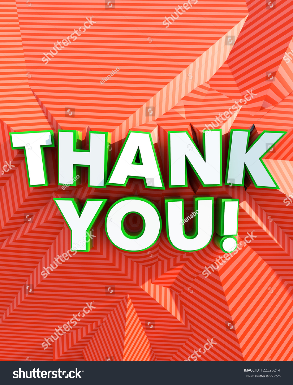 Thank You Poster Stock Photo 122325214 Shutterstock