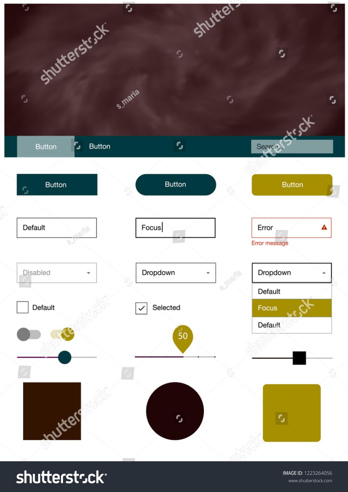 Dark Multicolor Vector Style Guide Sky Stock Vector (Royalty