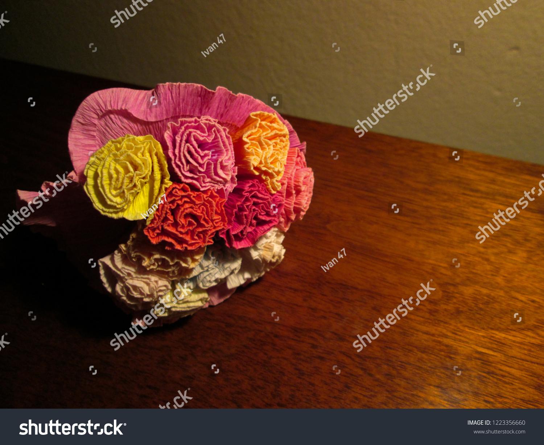 Origami Paper Flower Bucket November 2018 Stock Photo Edit Now 1223356660