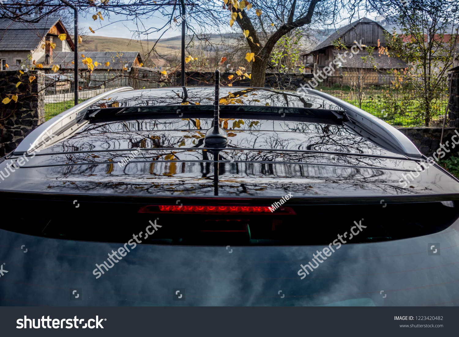 Double Panoramic Sunroof Hatch Mounted On Stock Photo Edit Now 1223420482