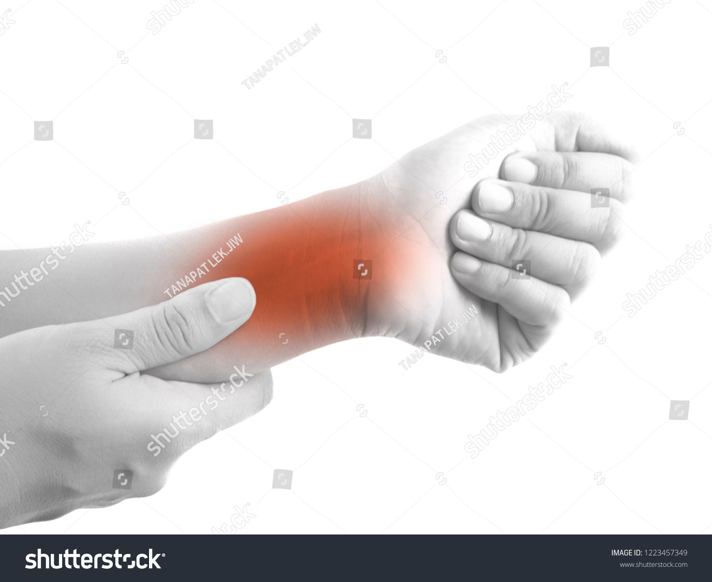 Pain Wrist Tendon Inflammation Stock Photo Edit Now 1223457349