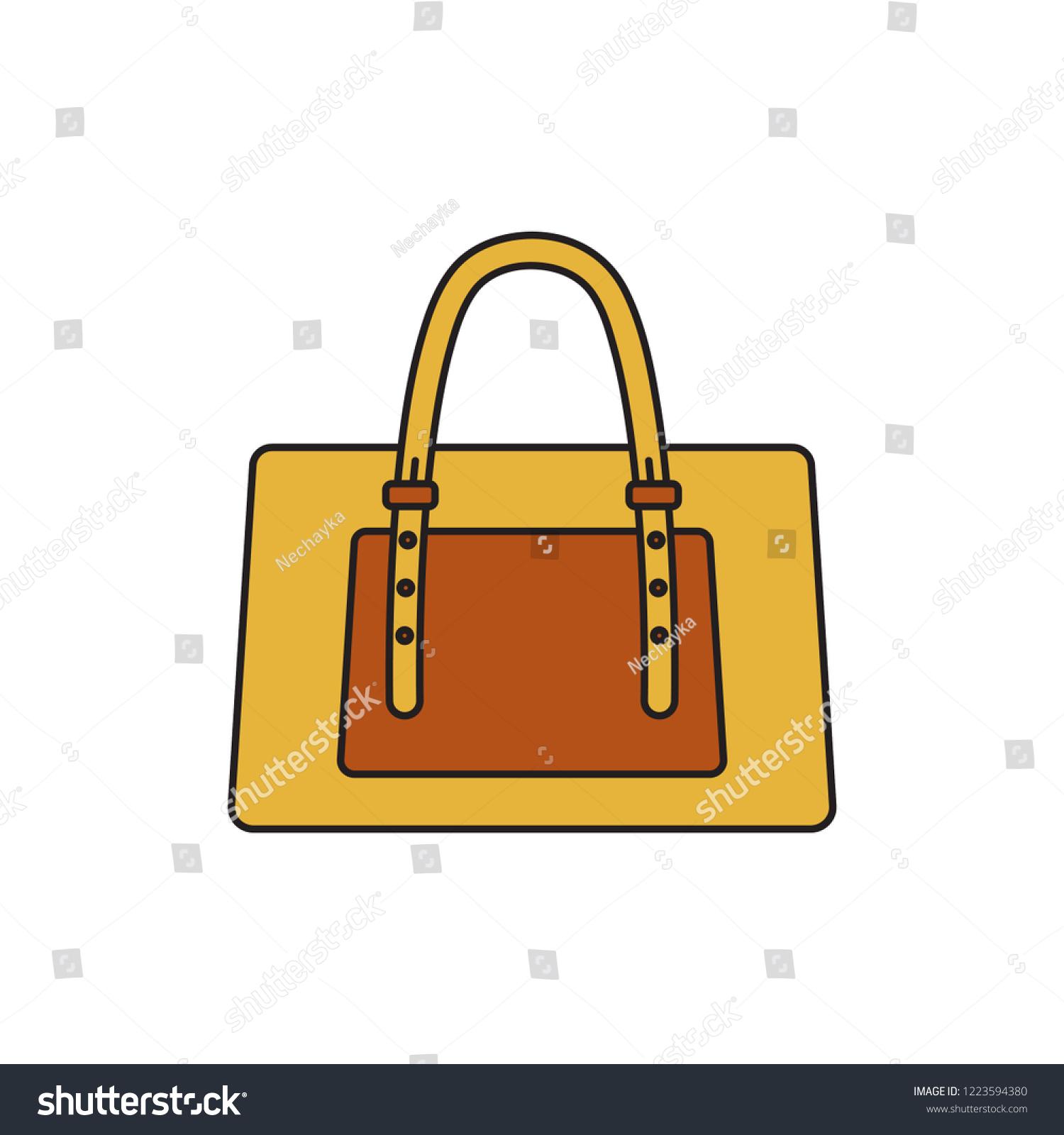 dd5c9e2577 Bag Vector Icon Graphic Symbol Isolated Stock Vector (Royalty Free ...