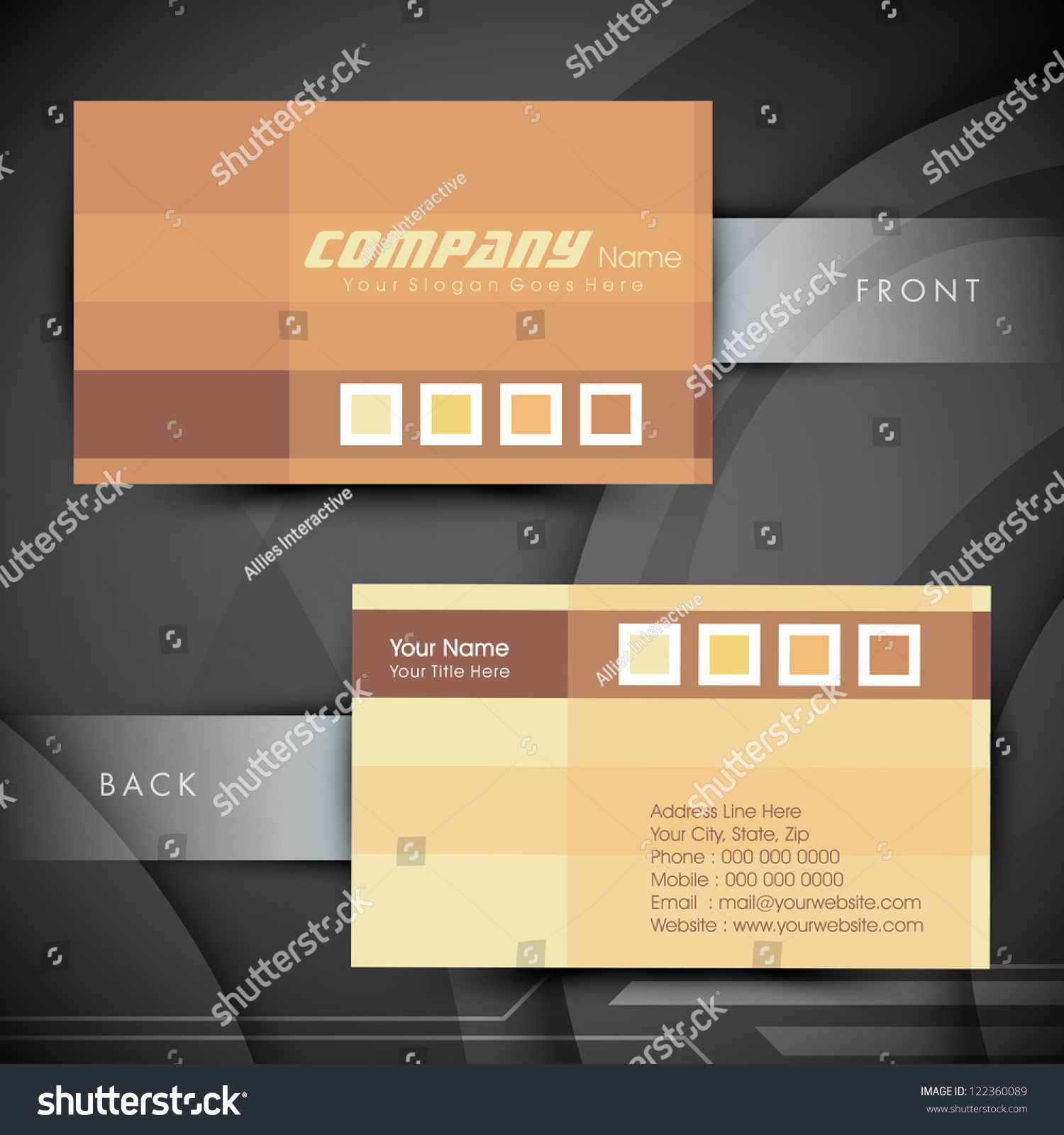 Abstract Professional Designer Business Card Template Image