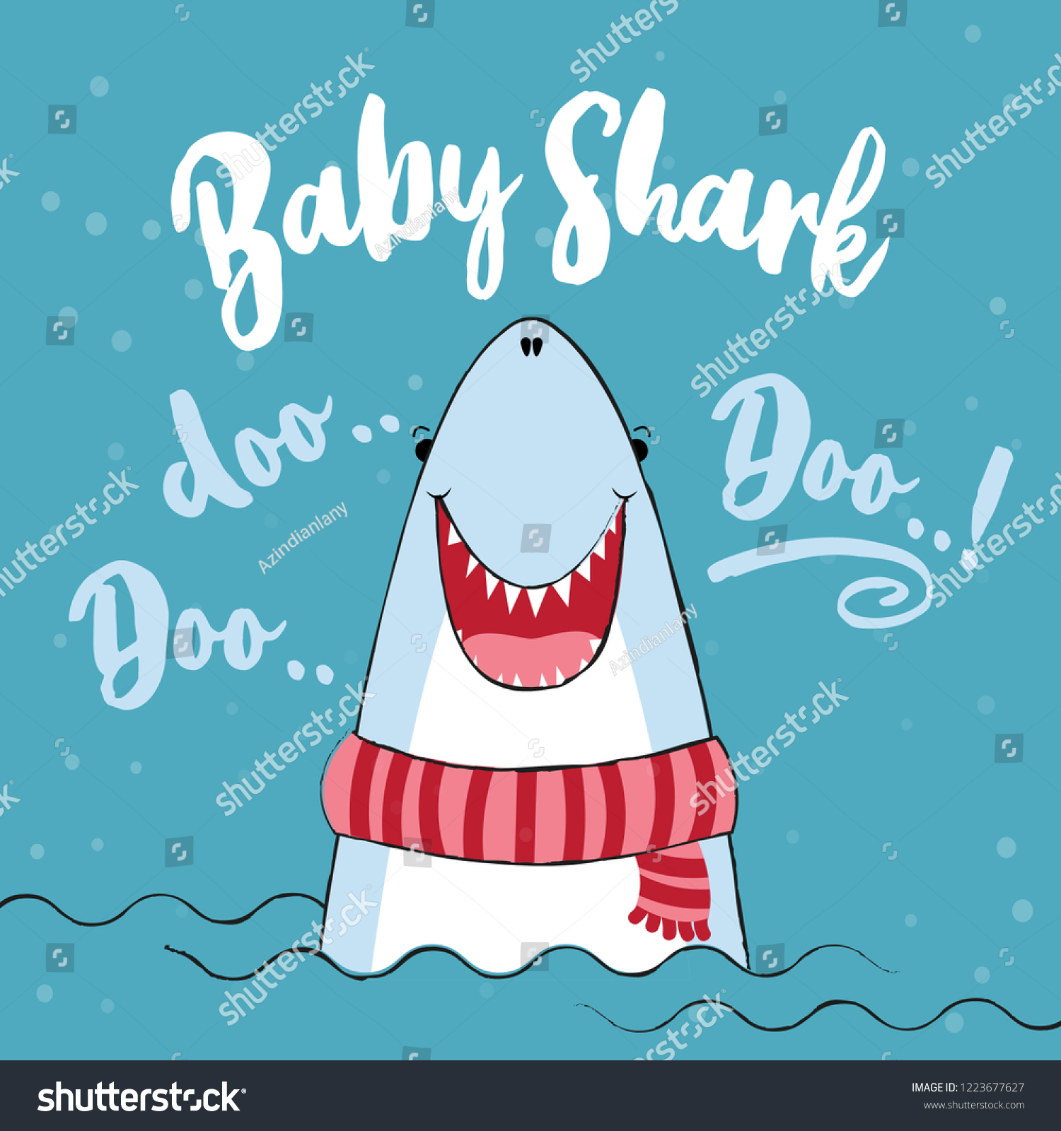 Baby Shark T Shirts Hoodie Tank Gifts Stock Vector Royalty Free