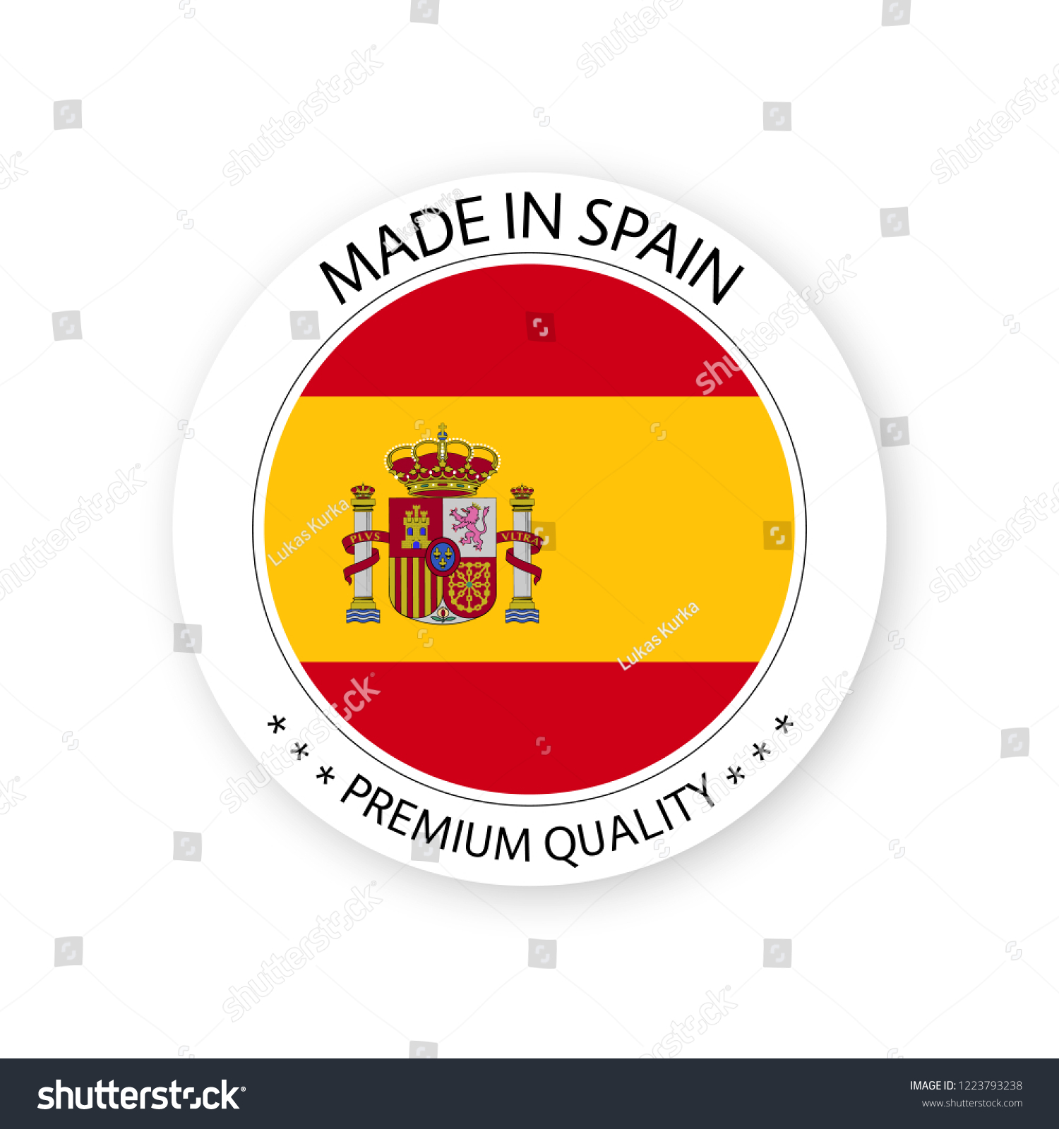 Modern Vector Made Spain Label Isolated Stock Vector Royalty Free ...