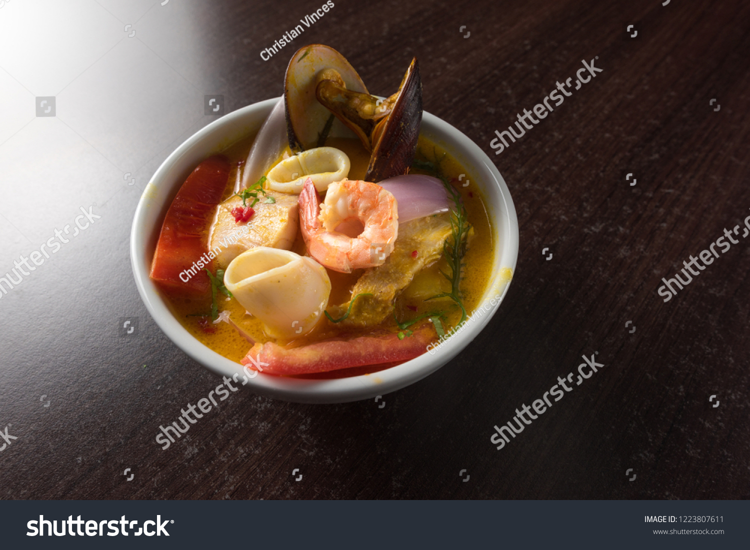 Peruvian Food Seafood Soup Called ...