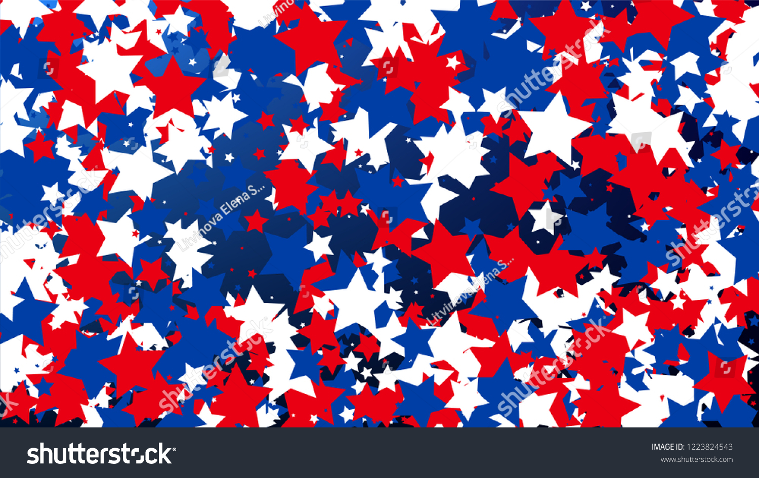 colors of american flag usa independence day red blue and white stars on