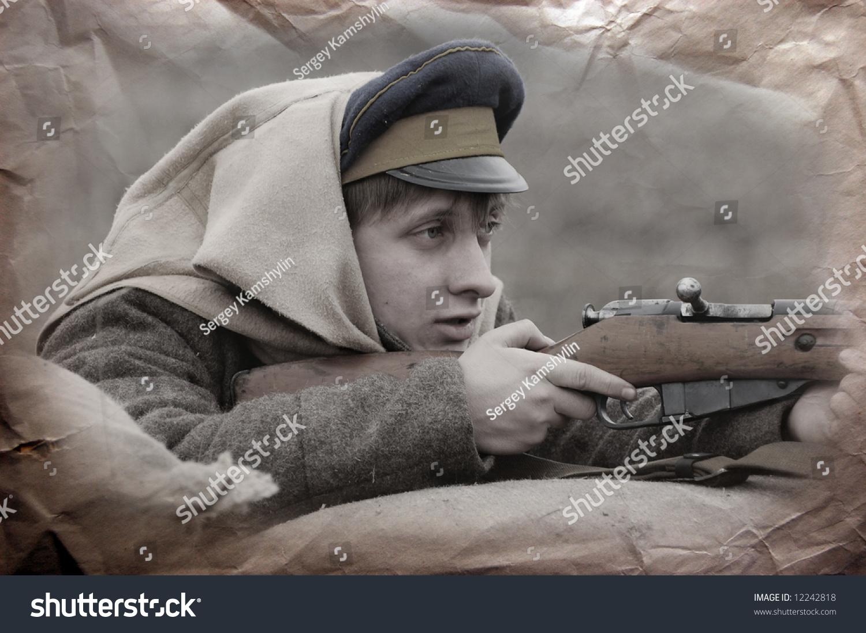 Russian soldier 1918. Reenacting Civil War