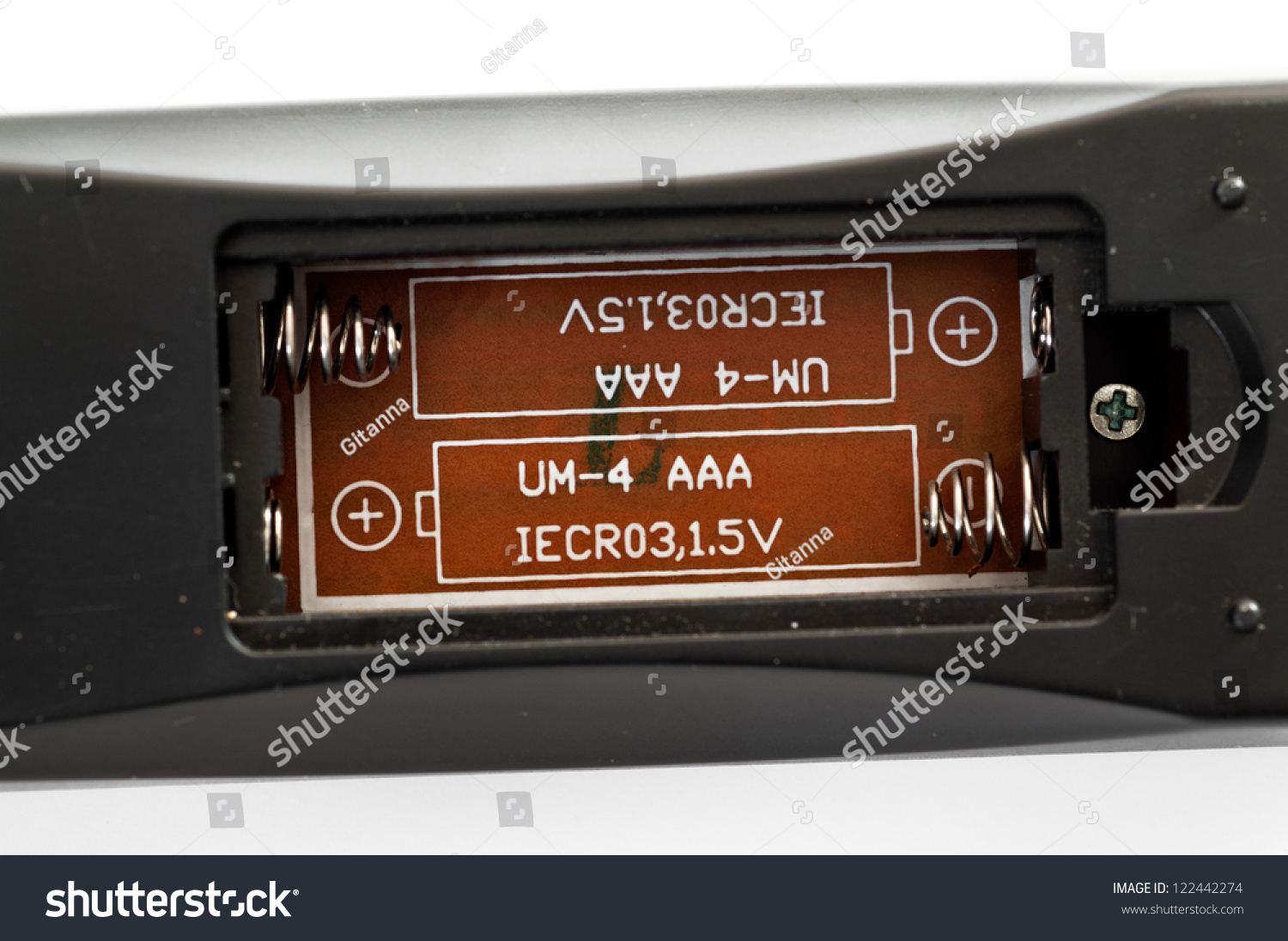 Detail Battery Compartment Remote Control Stock Photo Edit Now 122442274