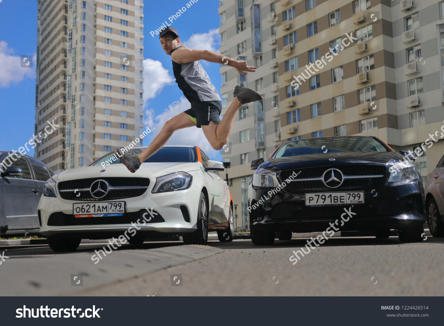 Moscow Jun 20 2018 Sporty Guy Stock Photo Edit Now 1224426514