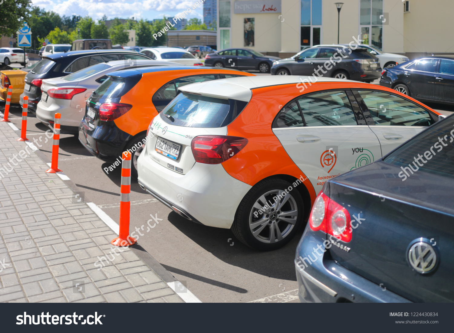 Moscow Jun 20 2018 Two Mercedes Stock Photo Edit Now 1224430834