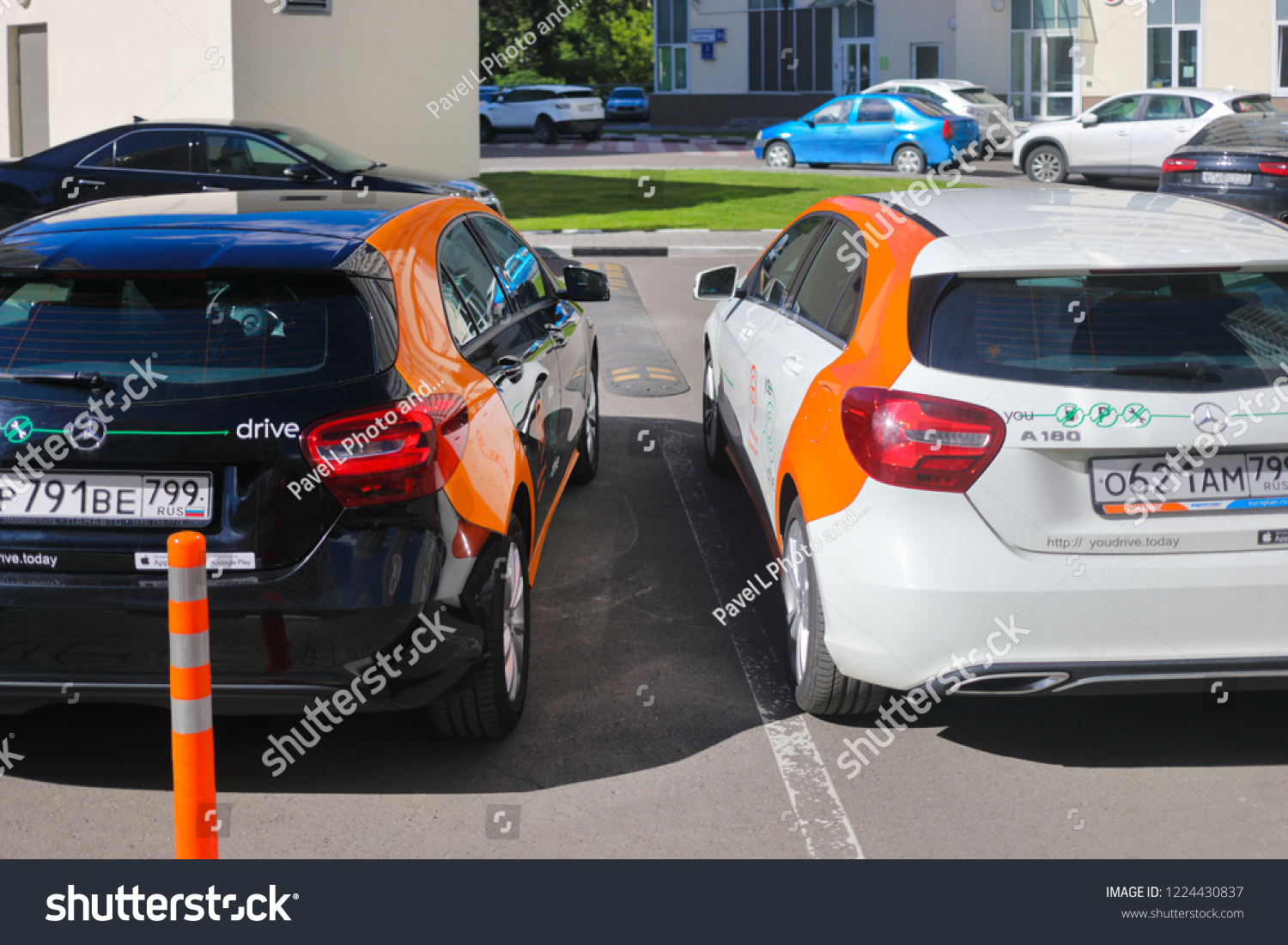 Moscow Jun 20 2018 Two Mercedes Stock Photo Edit Now 1224430837