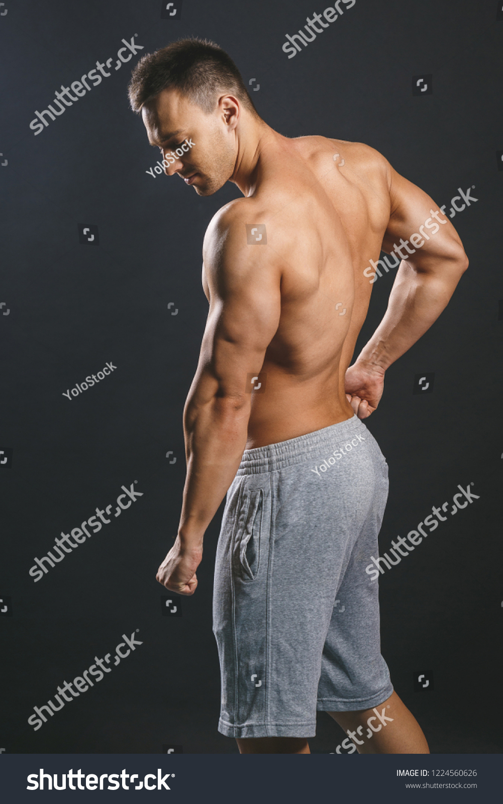 Muscular Torso Sexy Young Male Bodybuilder Stock Photo Edit Now