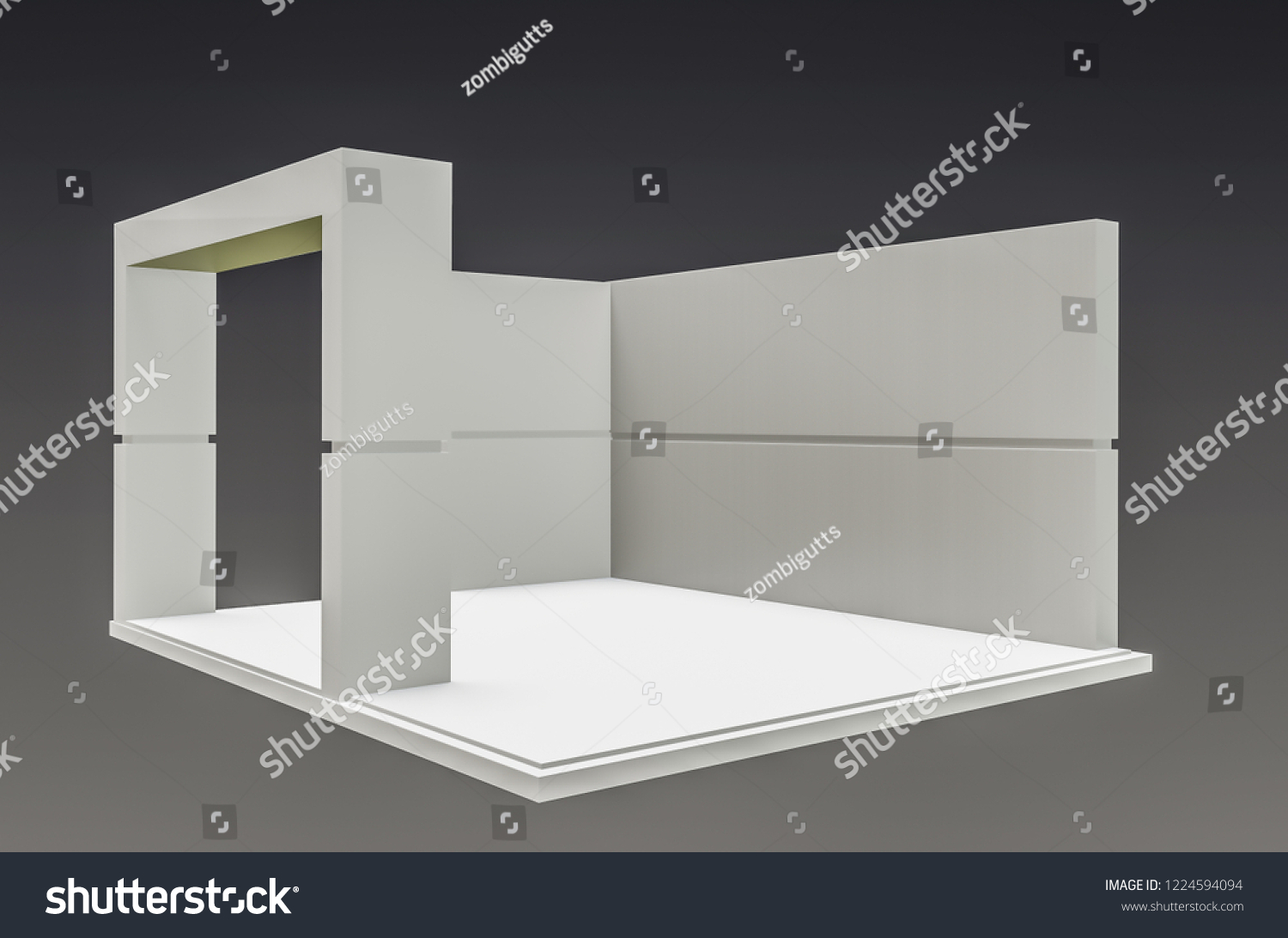 Exhibition Stand Free D Model : Royalty free stock illustration of exhibition stand plain used mock