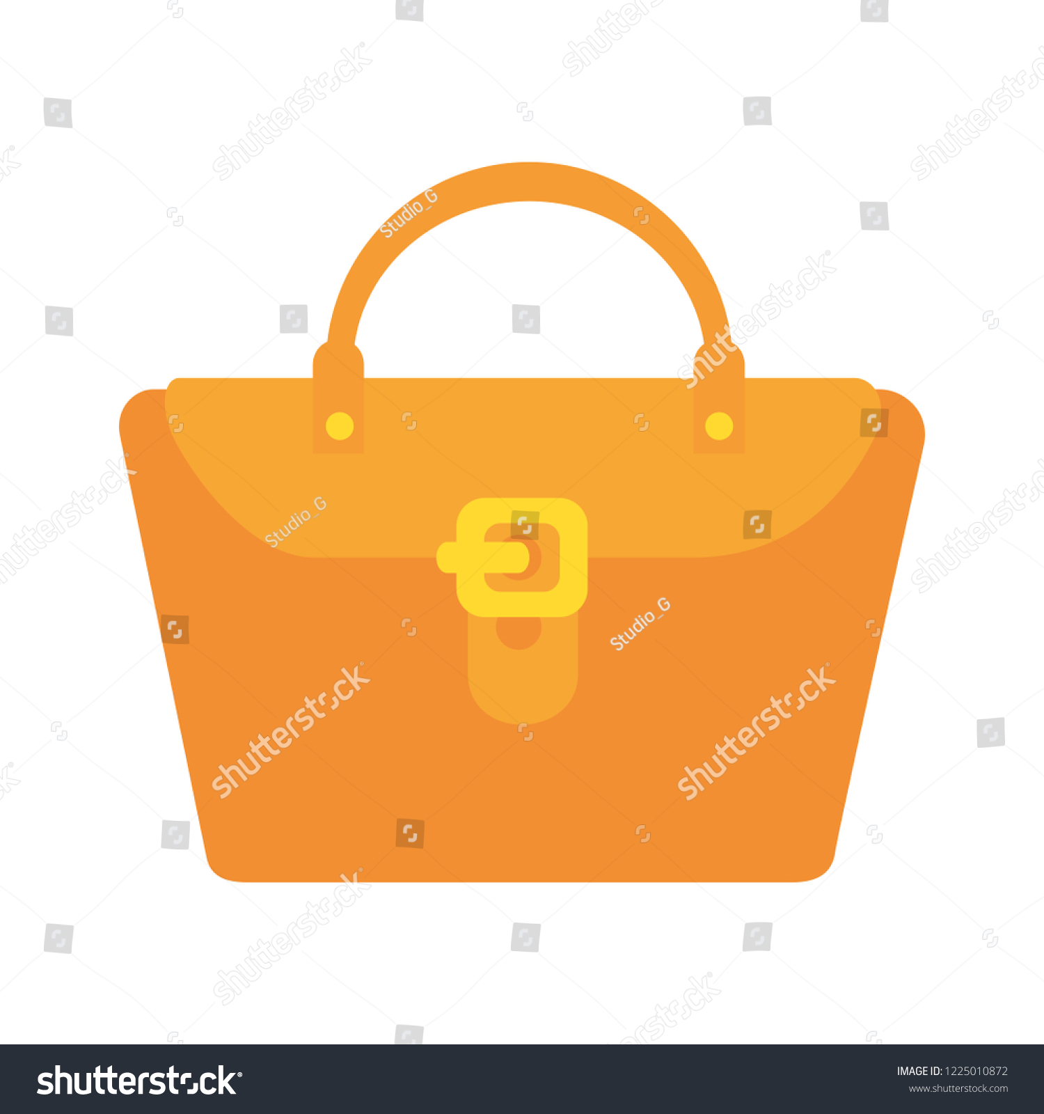 Fashion Feminine Handbag Icon Stock Vector (Royalty Free) 1225010872 ... a08618badc