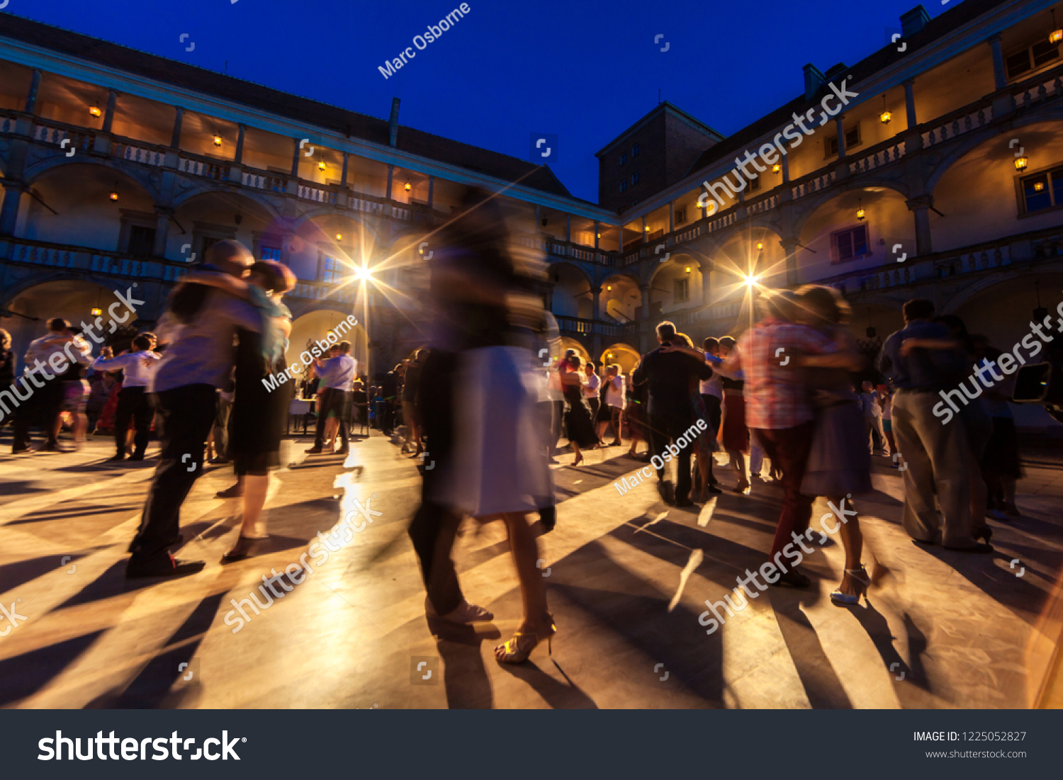 Magical Tango Dance By Open Air Stock Photo (Edit Now) 1225052827