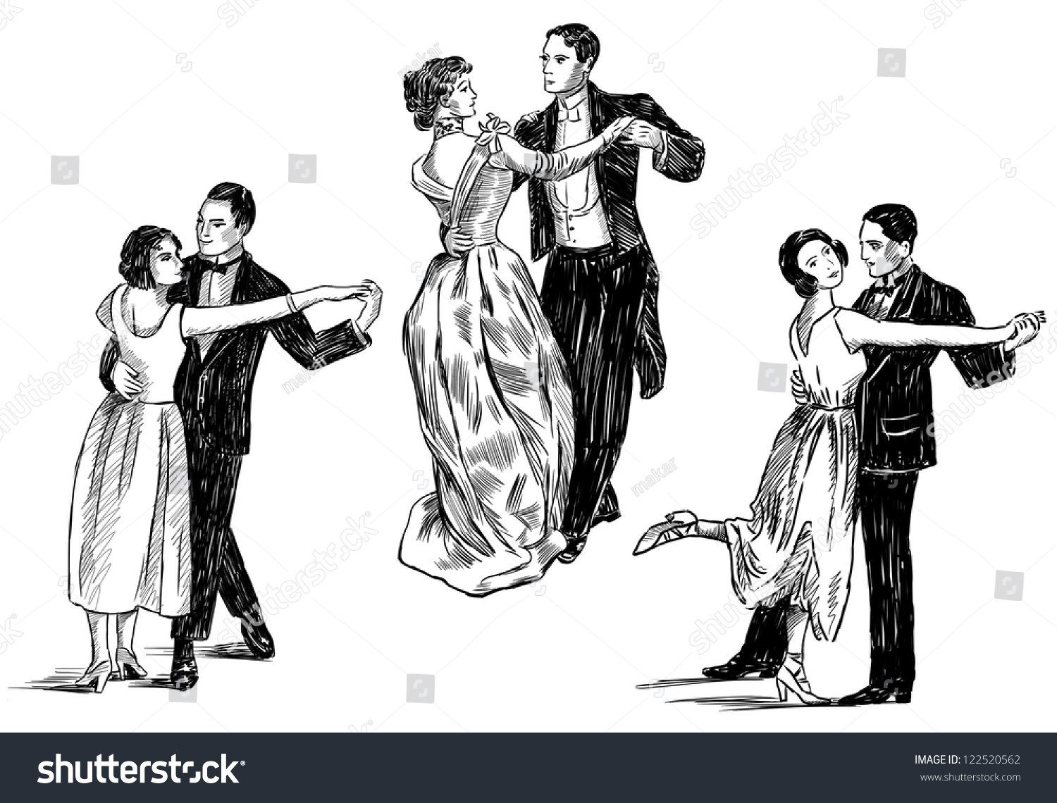 vintage dancing couples