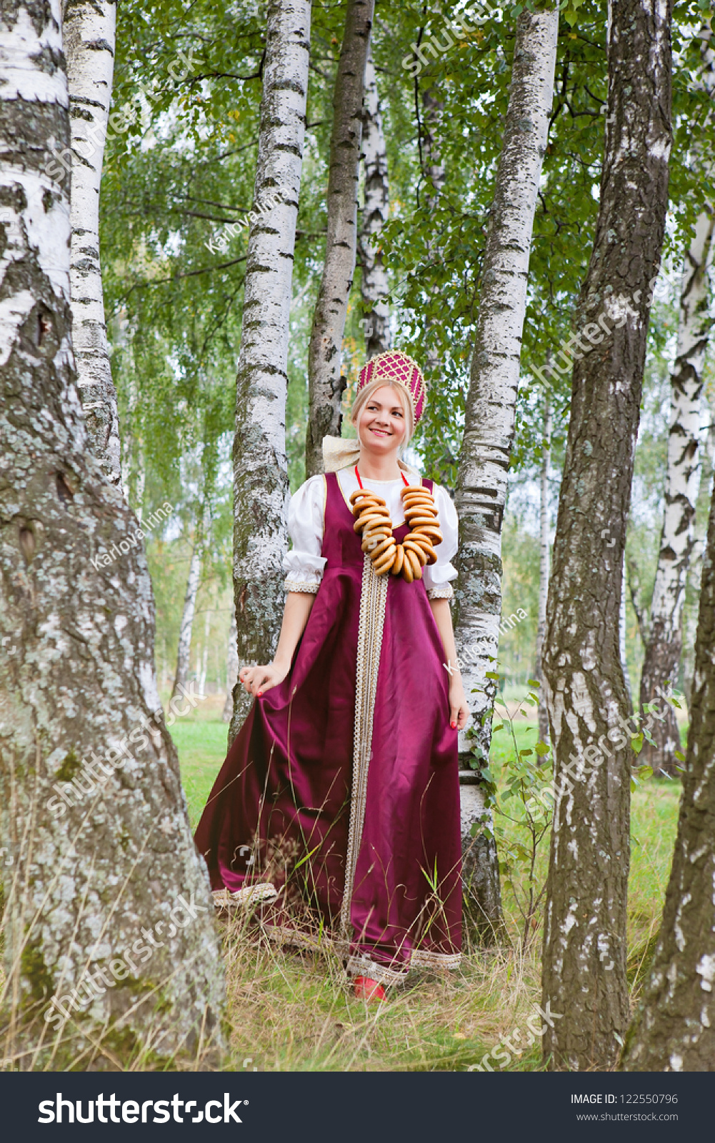 Woman In Traditional Costume Russian 55