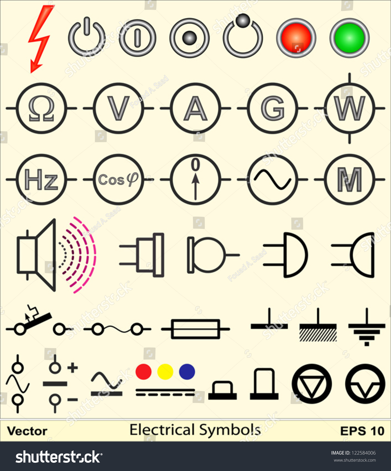 Snap Ss Electric Circuits And Symbols Mini Physics Learn Electronic Circuit Diagram Cxa1034pm Audio Amplifier Electrical 122584006 Shutterstock