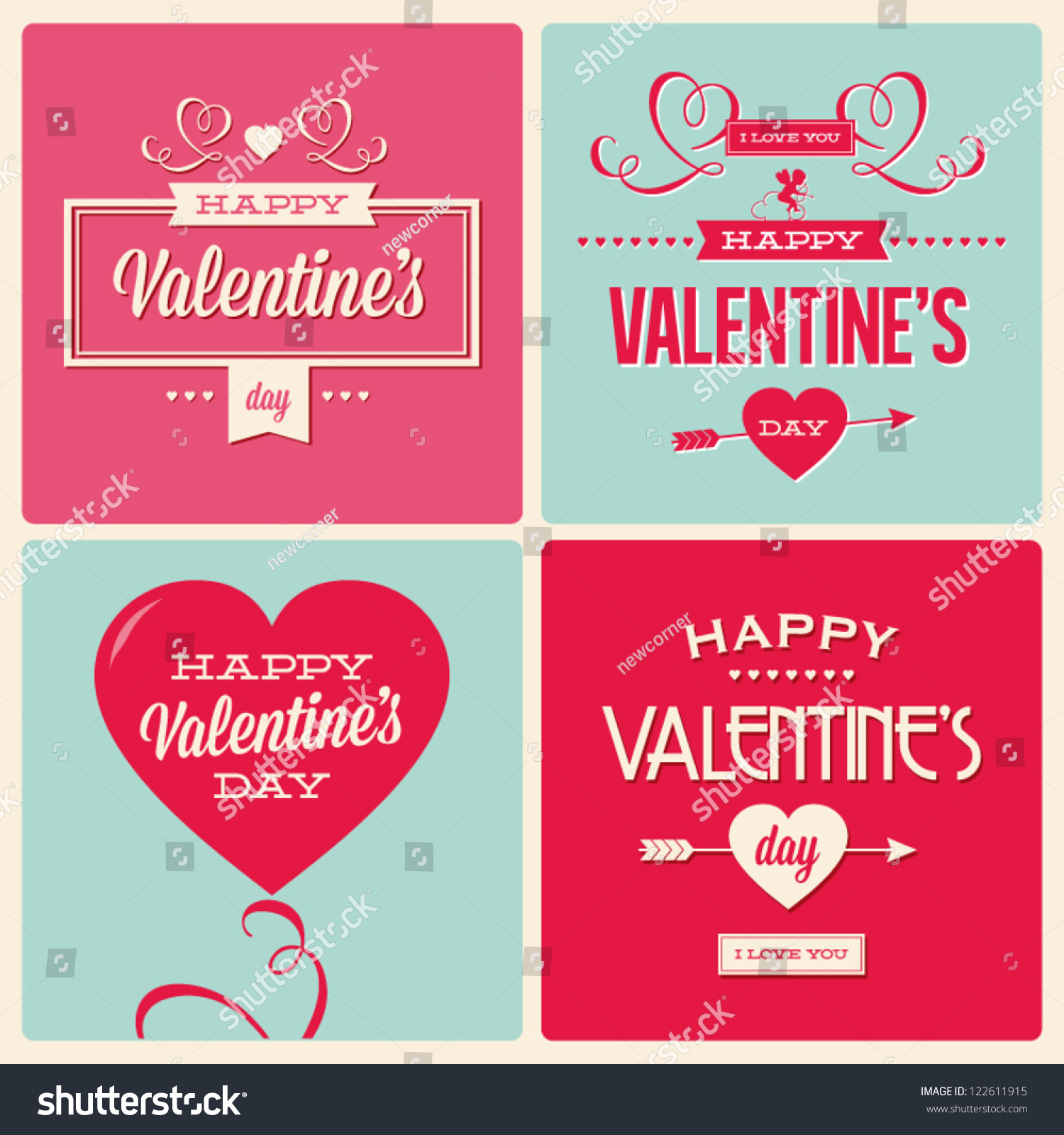 Stock Vector Happy Valentines