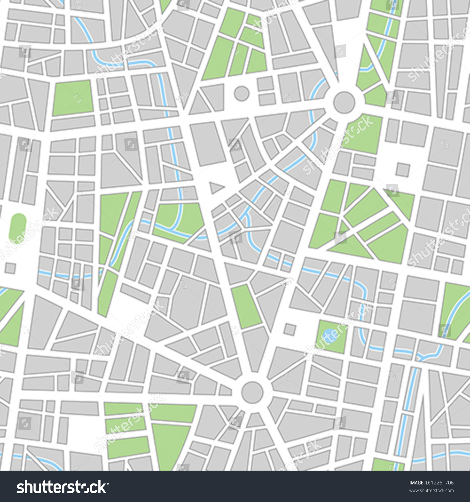 City Map Seamless Vector Wallpaper All Elements And Road Template Blank Street Printable