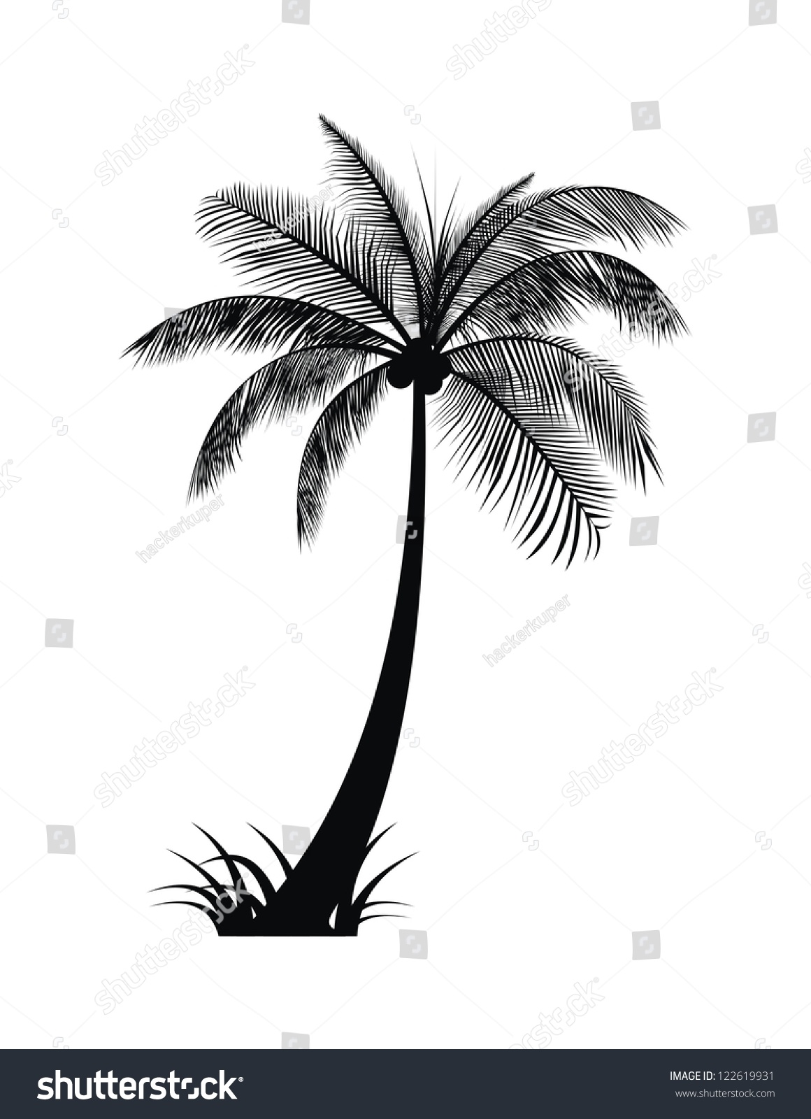 silhouette date palm tree - photo #28
