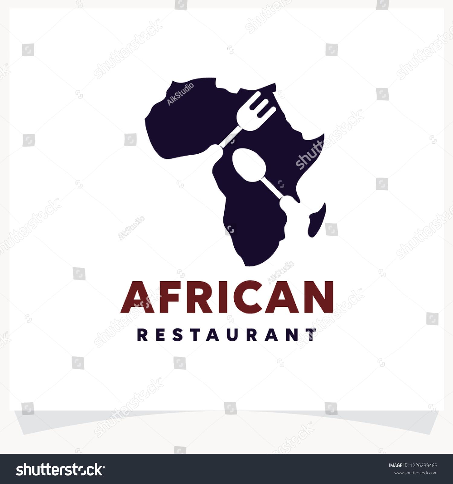 Vector De Stock Libre De Regalias Sobre African Restaurant Logo Design Template1226239483