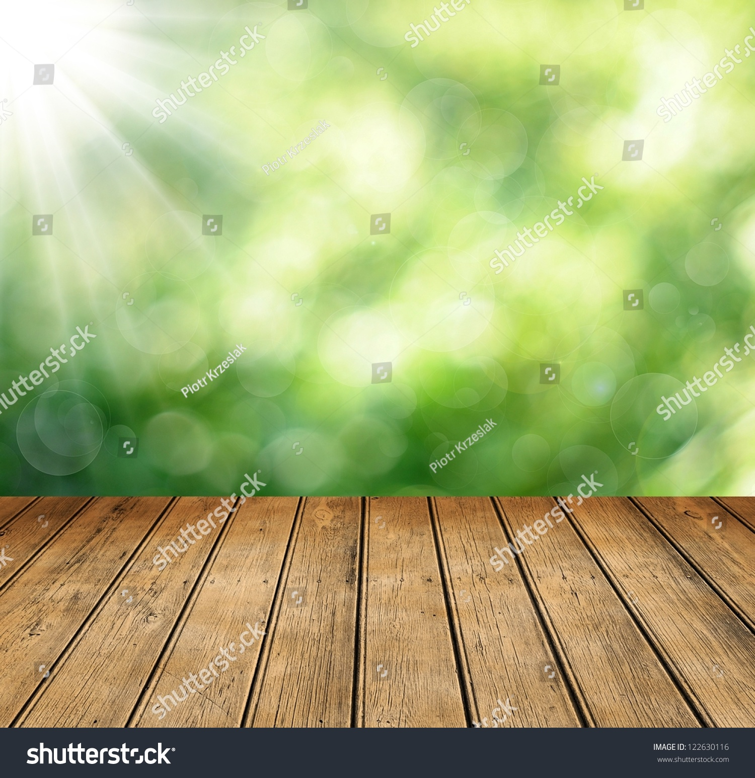 Wooden table space your photo montage stock photo for Html table spacing