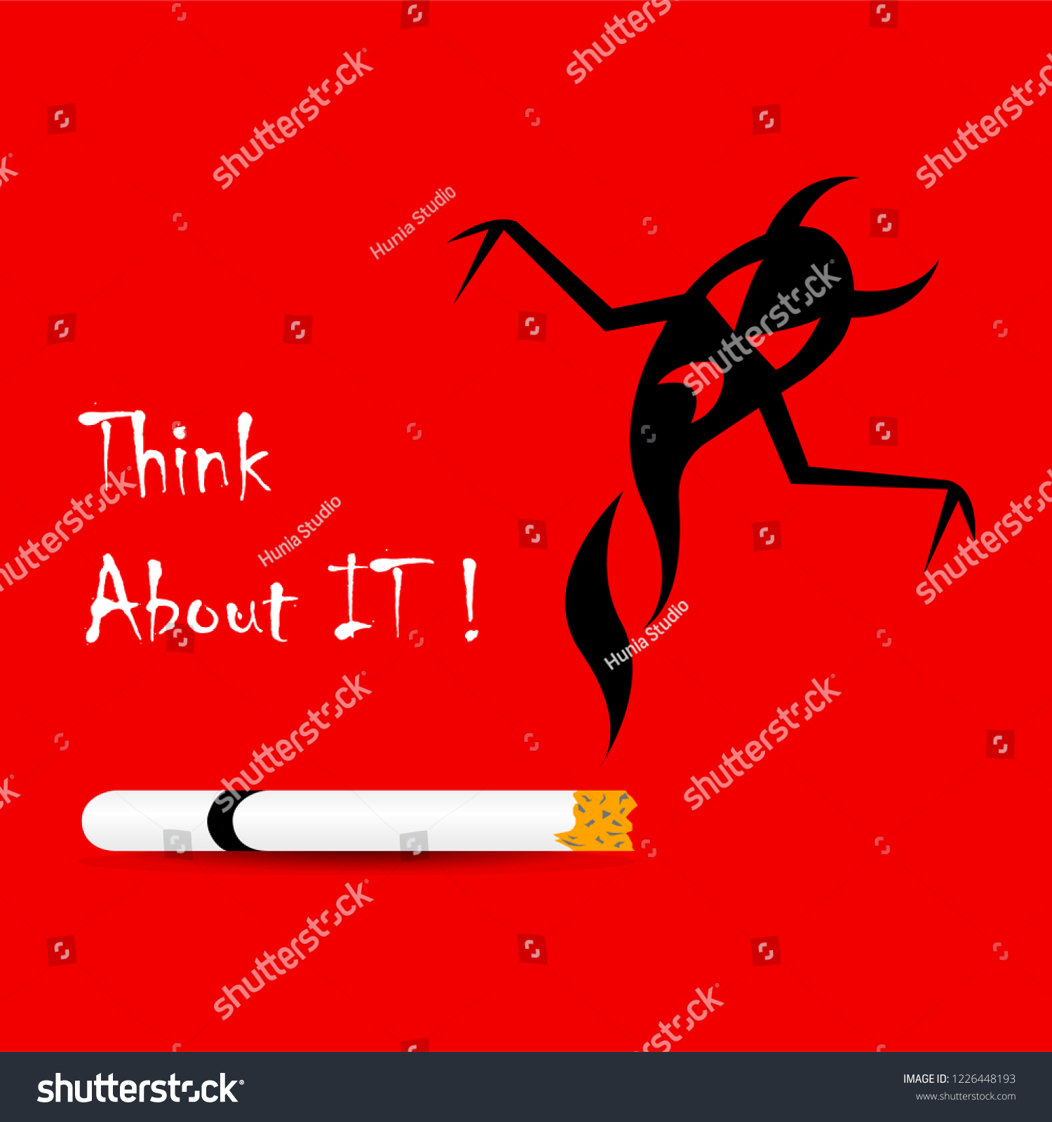 No Smoking Banner Illustration Red Background Stock Vector Royalty Free 1226448193